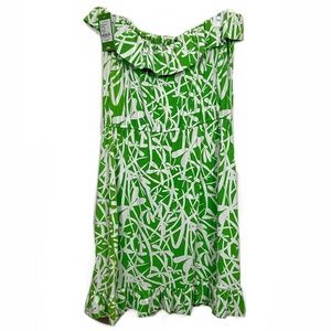 NWT Lilly Pulitzer Strapless Ruffle Printed Dress